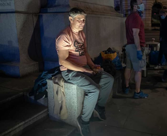 'London is so strange and sad': the sacked hospitality workers sleeping rough