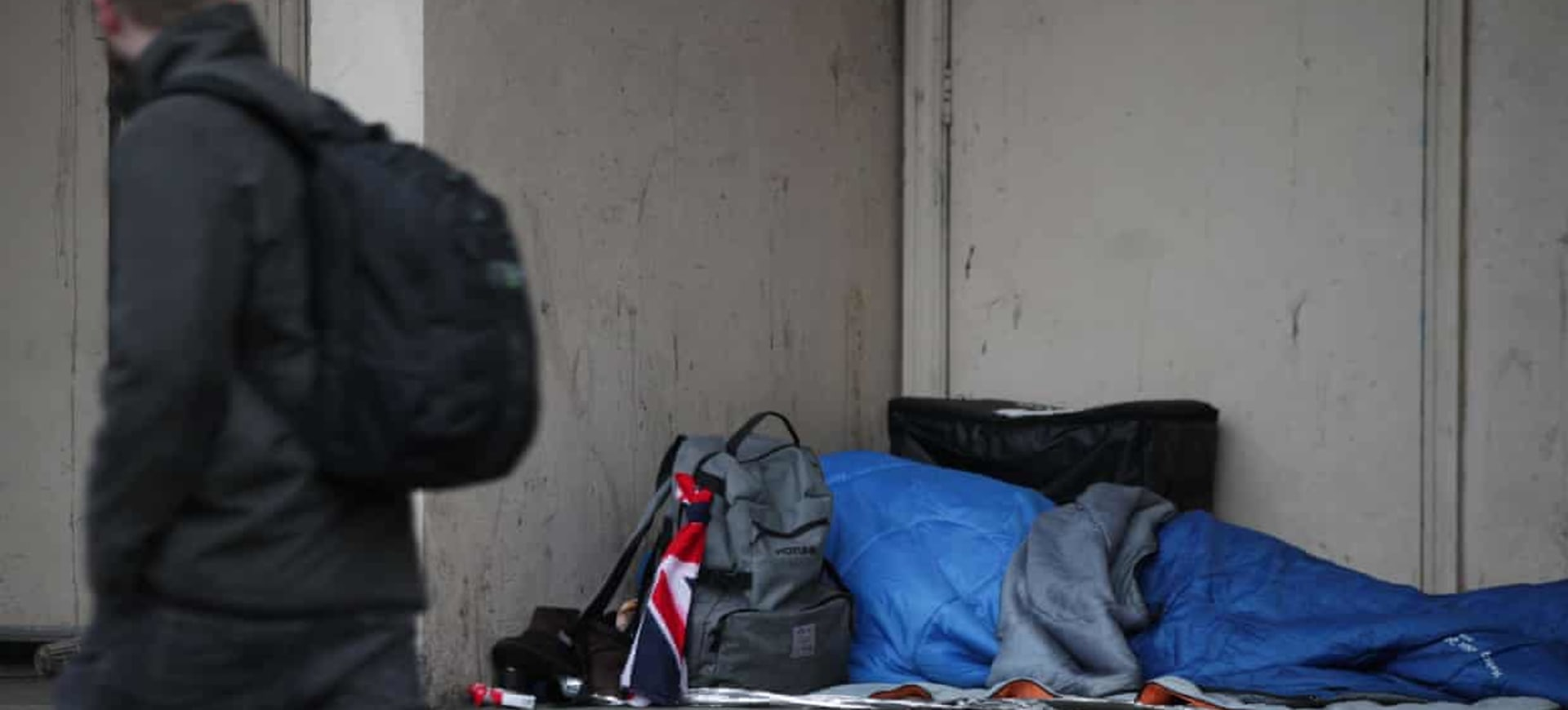Homeless deaths rose by a record 22% last year, says ONS