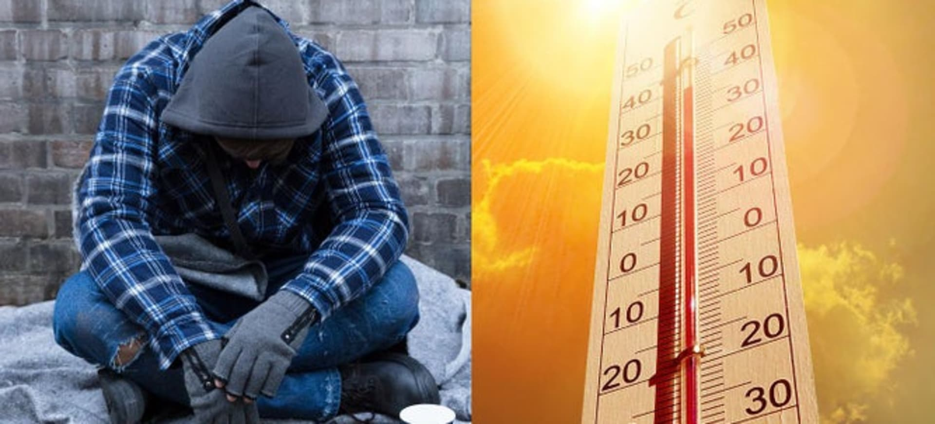 How to help a homeless person you see sleeping rough in the scorching heat